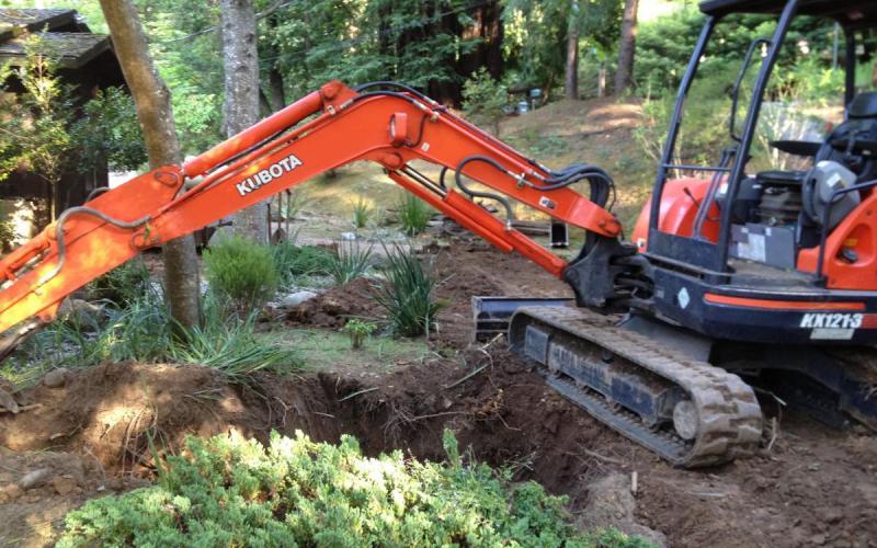 Septic excavation